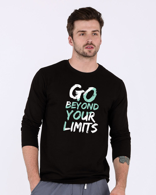 Shop Beyond Limits Full Sleeve T-Shirt-Front
