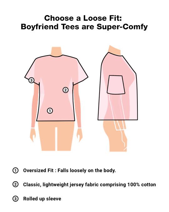 Shop Hot Pink Side Panel Boyfriend T-Shirt-Design