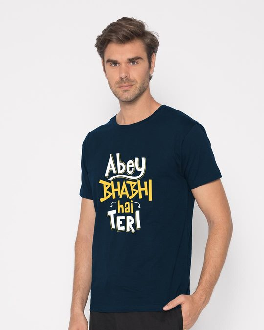 Shop Bhabi Hai Teri Half Sleeve T-Shirt-Full