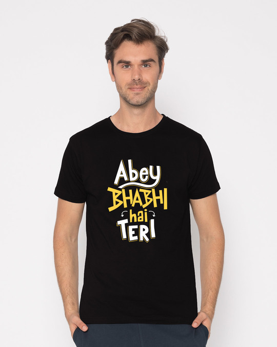 Shop Bhabi Hai Teri Half Sleeve T-Shirt-Back