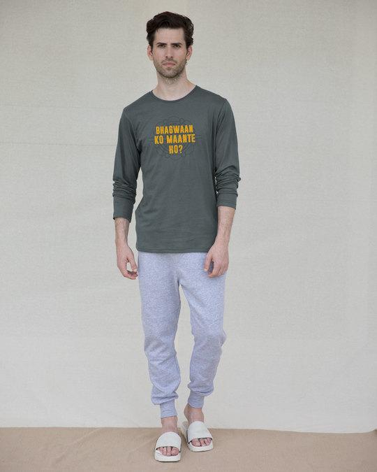 Shop Bhagwaan Ko Maante Ho? Full Sleeve T-Shirt-Full