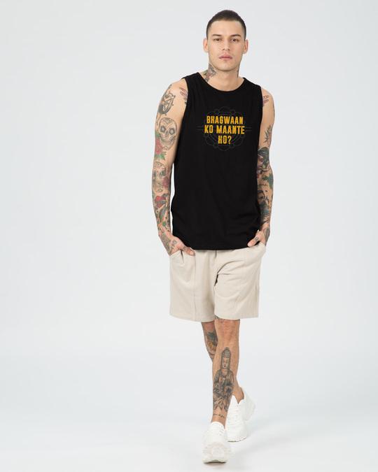 Shop Bhagwaan Ko Maante Ho? Vest-Full