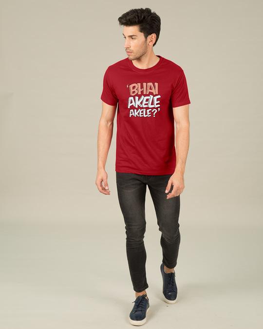 Shop Bhai Akele Akele Half Sleeve T-Shirt-Full