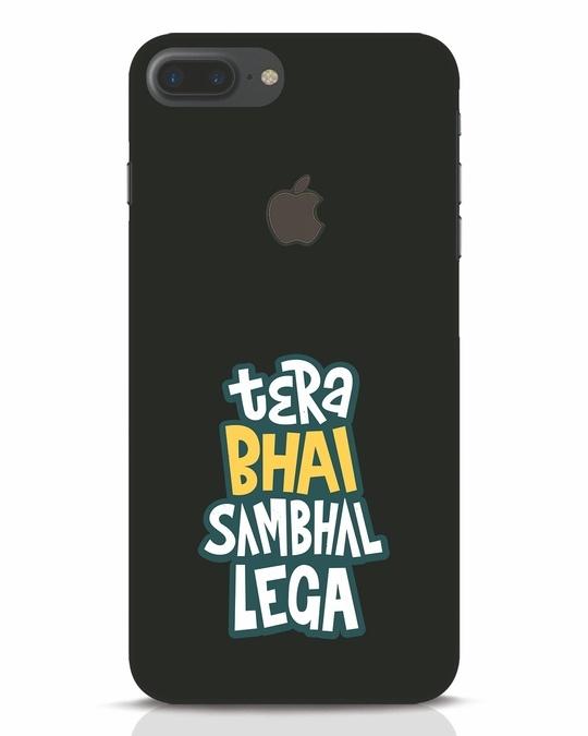 Shop Bhai Sambhal Lega iPhone 7 Plus Logo Cut Mobile Cover-Front