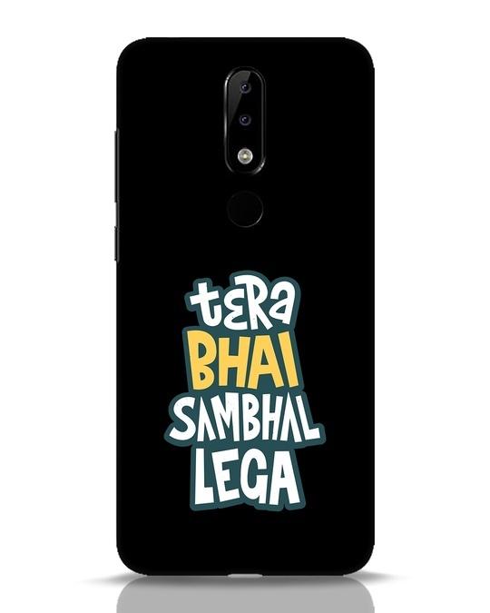 Shop Bhai Sambhal Lega Nokia 5.1 Plus Mobile Cover-Front
