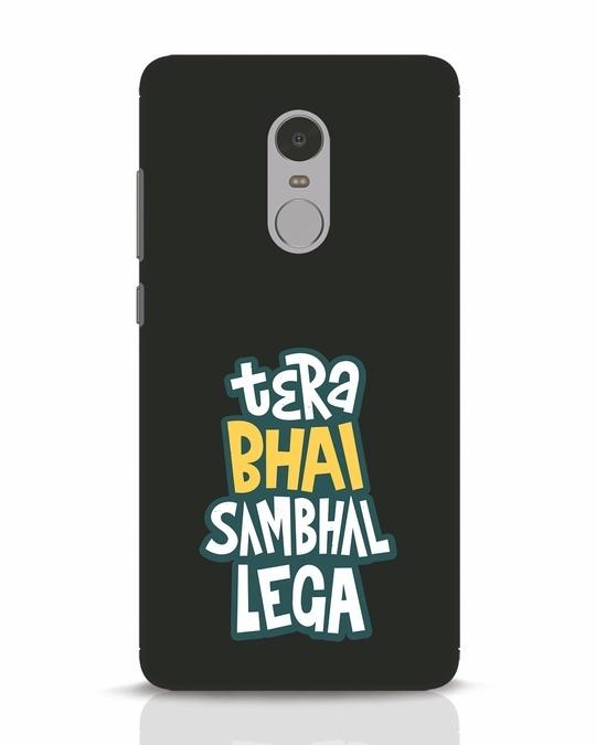 Shop Bhai Sambhal Lega Xiaomi Redmi Note 4 Mobile Cover-Front