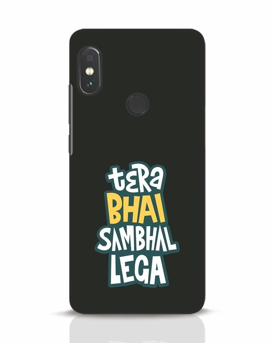 Shop Bhai Sambhal Lega Xiaomi Redmi Note 5 Pro Mobile Cover-Front