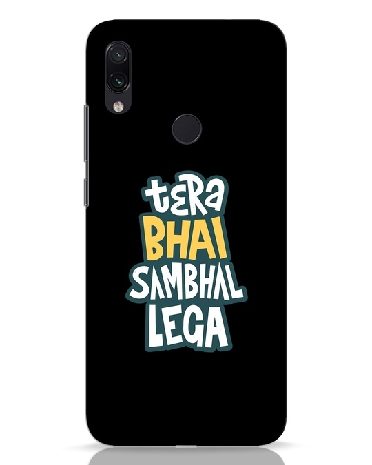 Shop Bhai Sambhal Lega Xiaomi Redmi Note 7 Pro Mobile Cover-Front