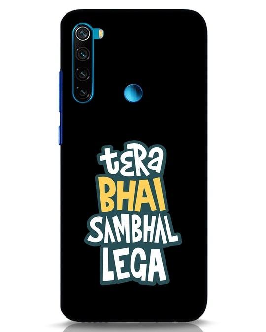 Shop Bhai Sambhal Lega Xiaomi Redmi Note 8 Mobile Cover-Front