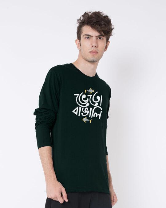 Shop Bheto Bangali Full Sleeve T-Shirt-Back