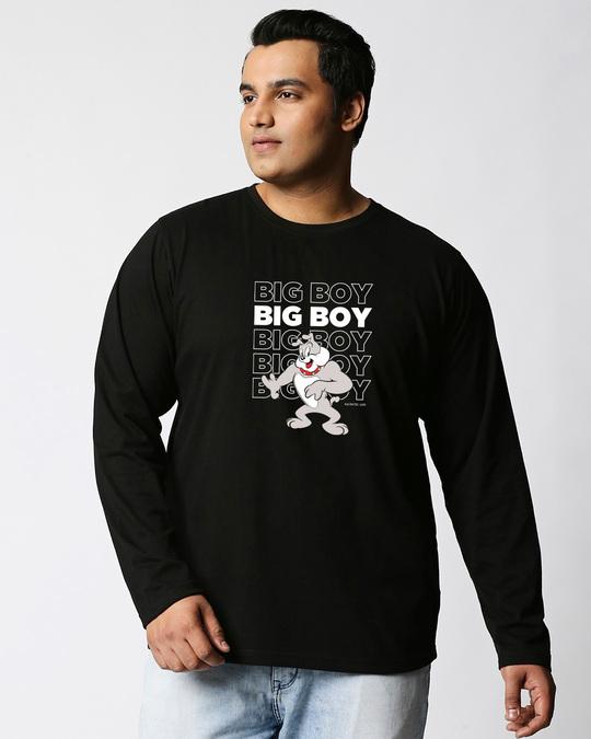 Shop Big Boy (TJL) Full Sleeves Plus Size T-Shirt-Front