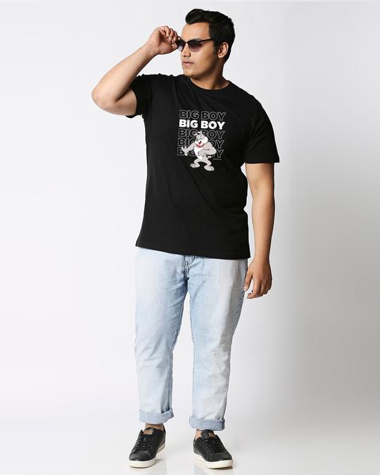 Shop Big Boy (TJL) Half Sleeve Plus Size T-Shirt-Full