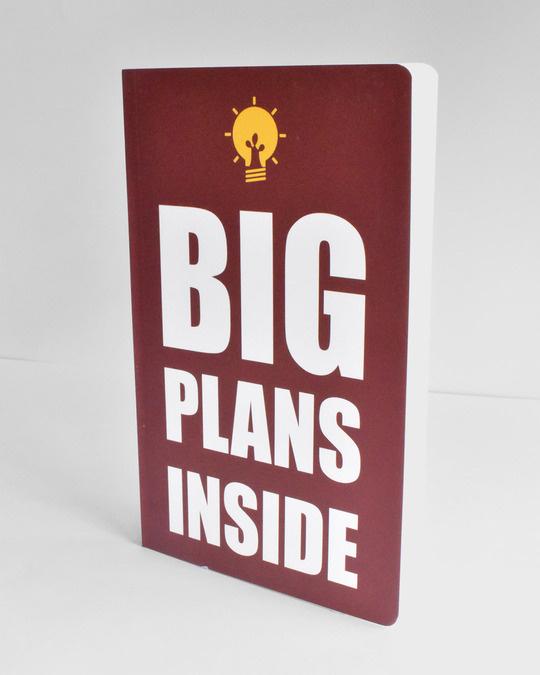 Shop Big Plans notebook  Soft Bound Notebook-Back