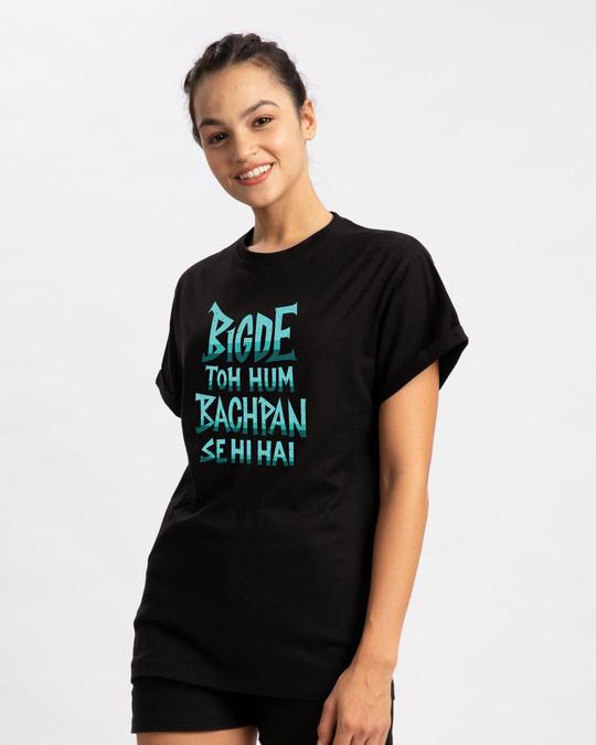 Shop Bigde Hue Boyfriend T-Shirt-Back