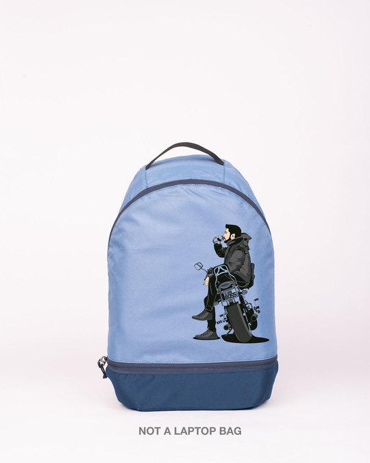 Shop Bike Explorer Printed Small Backpack-Front