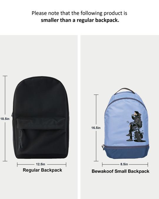Shop Bike Explorer Printed Small Backpack-Back