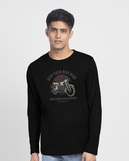 Shop Bike High Head Higher Full Sleeve T-Shirt Black-Back