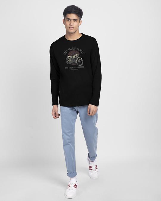 Shop Bike High Head Higher Full Sleeve T-Shirt Black-Full