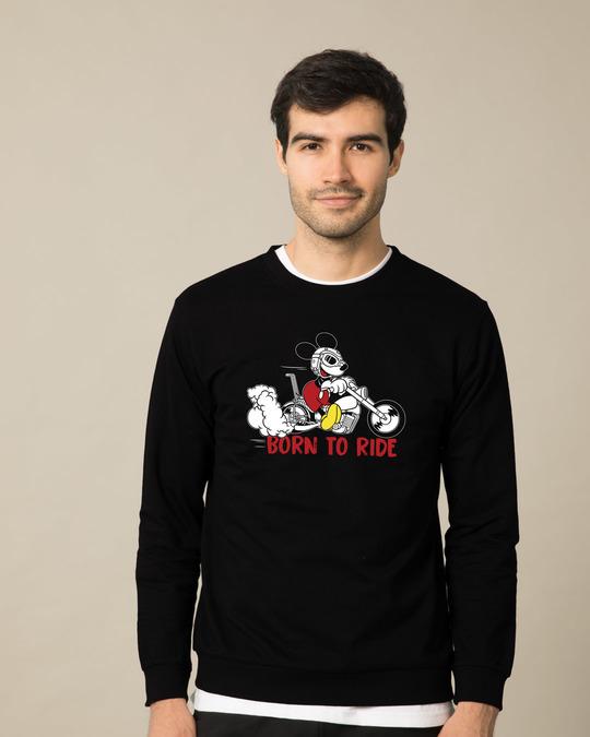Shop Bike Mickey Fleece Light Sweatshirt (DL)-Front