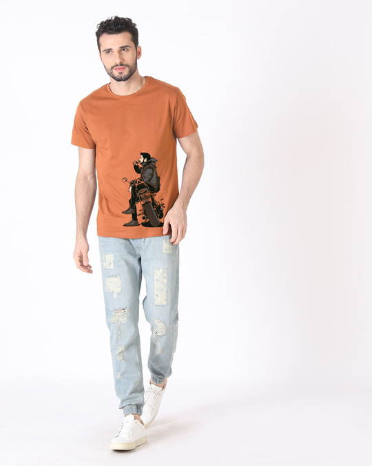 Shop Biker Boss Half Sleeve T-Shirt-Full