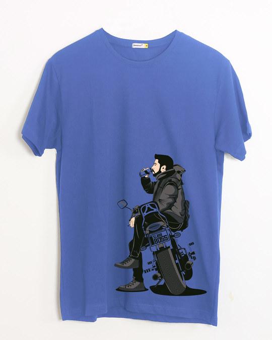 Shop Biker Boss Half Sleeve T-Shirt-Front