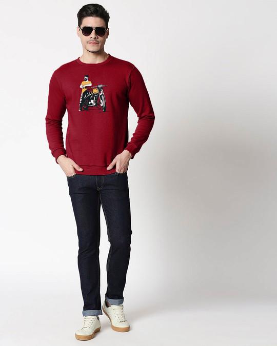 Shop Biker Bro Fleece Sweater-Full
