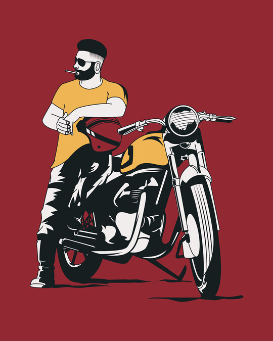 Shop Biker Bro Full Sleeve T-Shirt-Full
