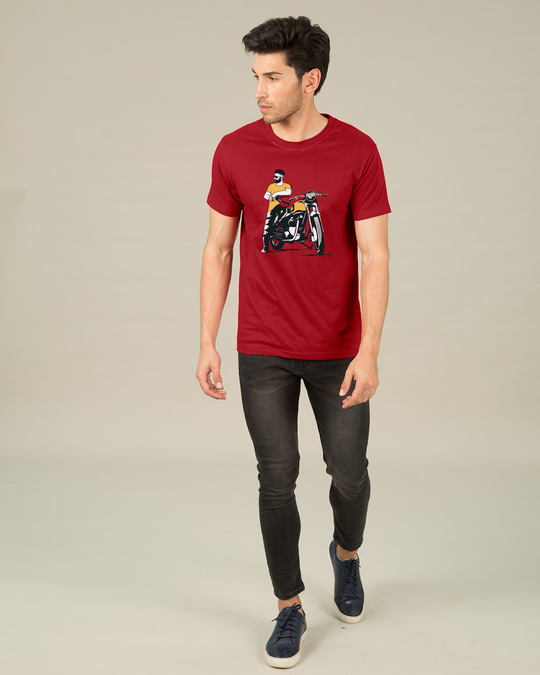 Shop Biker Bro Half Sleeve T-Shirt