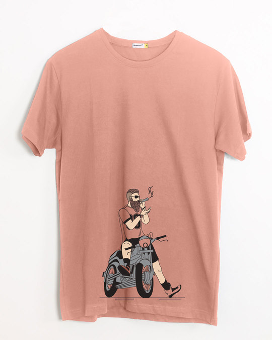 Shop Biker Swag Half Sleeve T-Shirt-Front