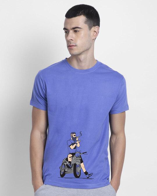 Shop Biker Swag Half Sleeve T-Shirt-Front
