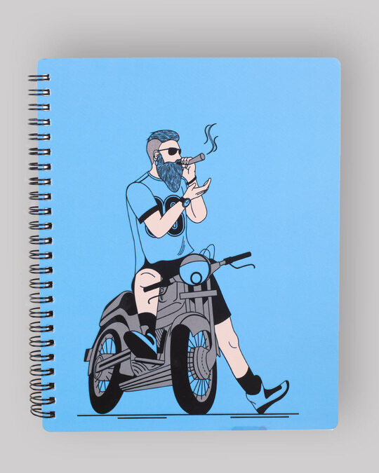 Shop Biker Swag Spiral Notebook-Front