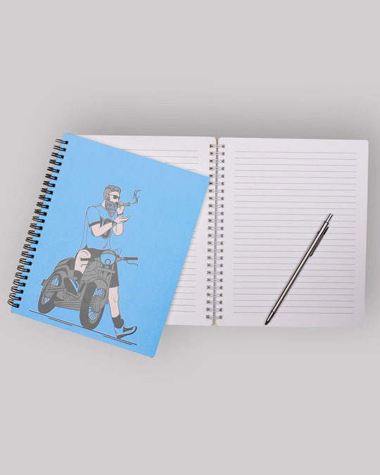 Shop Biker Swag Spiral Notebook-Back