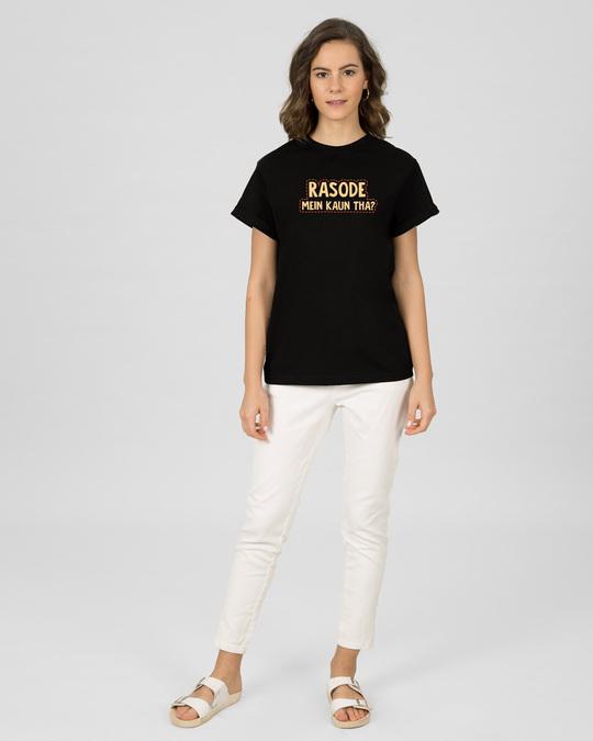Shop Binod Tha Boyfriend T-Shirt Black-Full
