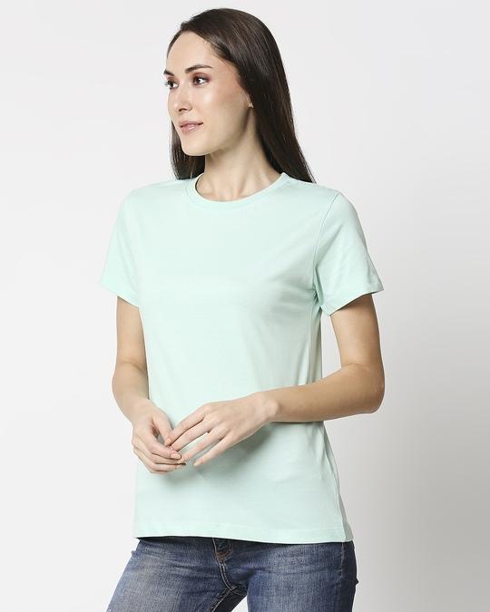 Shop Bird Egg Green Half Sleeve Relaxed Fit T-Shirt-Design