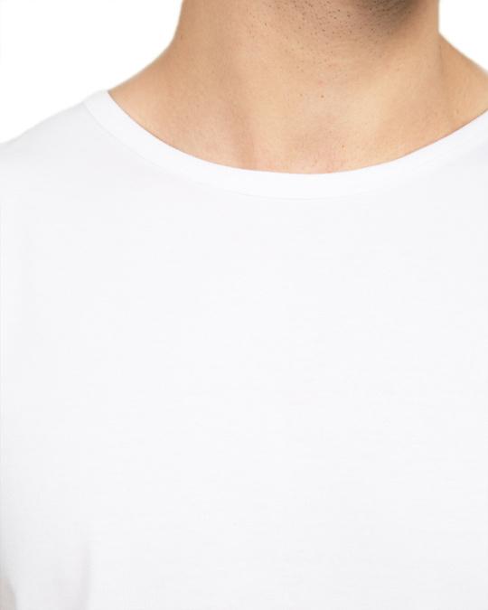 Shop Men's Plain Round Neck Vest Pack of 2 (Black & White)