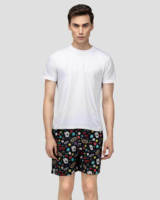 Shop What's Down | Black All In Boxer Shorts | Casino Boxers-Full