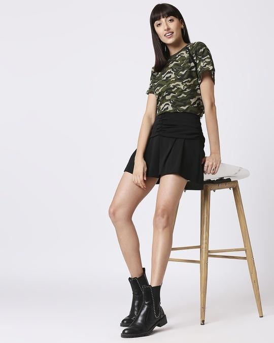 Shop Black Camo Plain Raglan Boyfriend Camo T-Shirt
