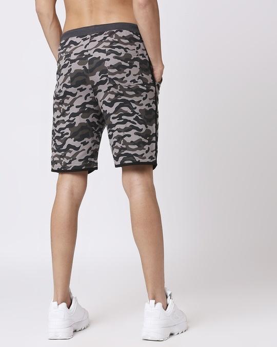 Shop Black Camo Side Stripe Camo Fleece Short-Design
