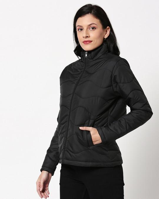 Shop Black Chill Block Puffer Jacket-Design