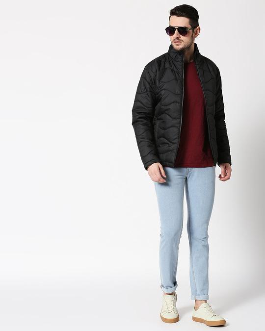 Shop Black Chill Block Wave Puffer Jacket