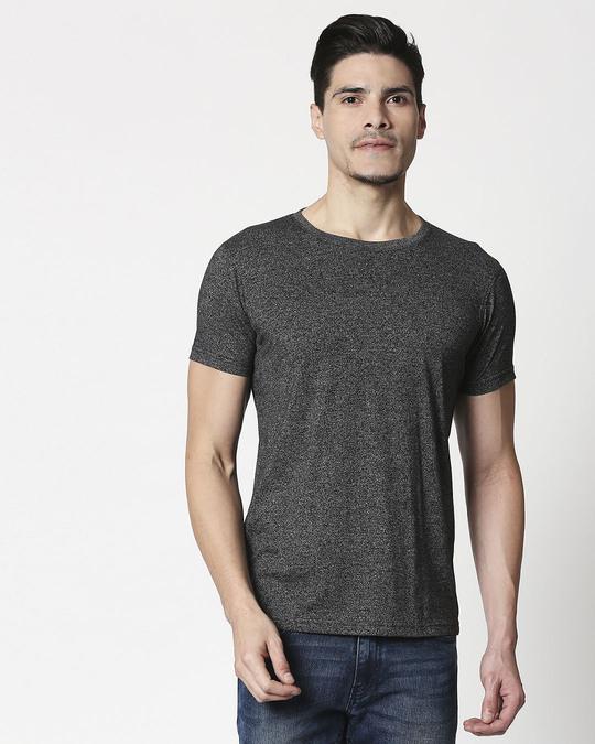 Shop Black Half Sleeve Grindle T-Shirt-Back