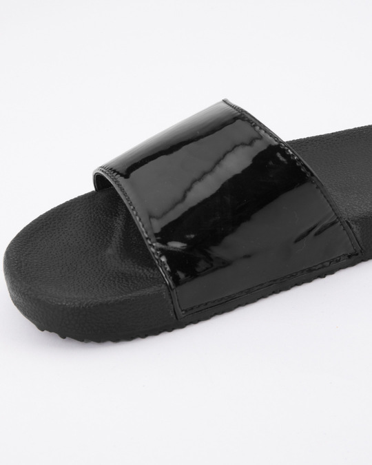 Shop Women Black Holographic Sliders