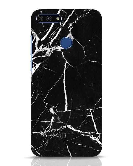 Shop Black Marble Huawei Honor 7A Mobile Cover-Front