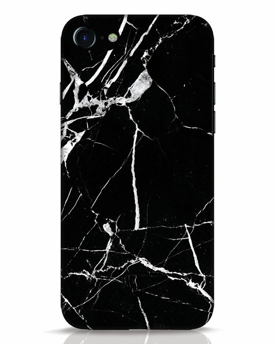 Shop Black Marble iPhone 8 Mobile Cover-Front