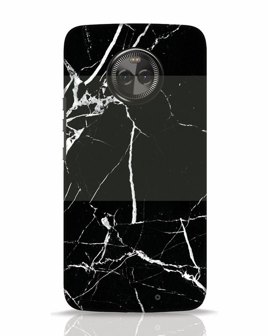 Shop Black Marble Moto X4 Mobile Cover-Front