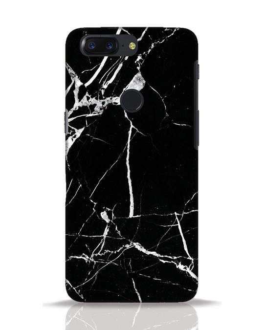 Shop Black Marble OnePlus 5T Mobile Cover-Front