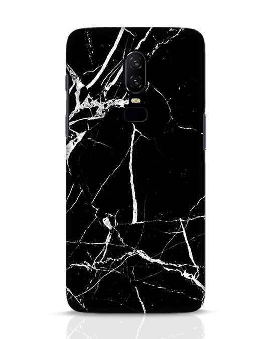 Shop Black Marble OnePlus 6 Mobile Cover-Front