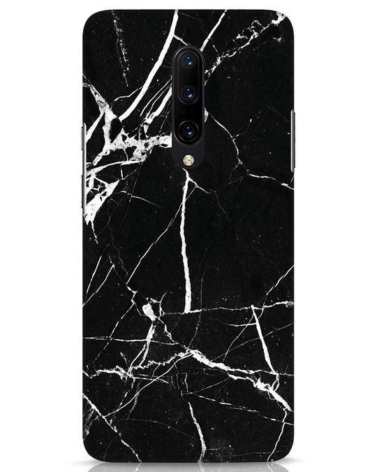 Shop Black Marble OnePlus 7 Pro Mobile Cover-Front