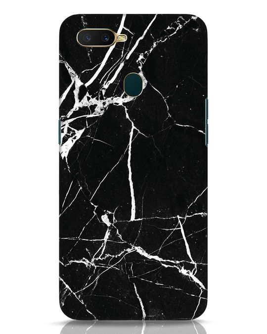 Shop Black Marble Oppo A7 Mobile Cover-Front