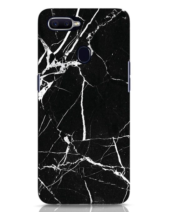 Shop Black Marble Oppo F9 Pro Mobile Cover-Front